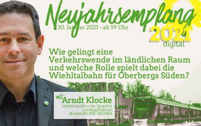 Einladung zum digitalen Neujahrsempfang mit den Themen Mobilität und Wiehltalbahn