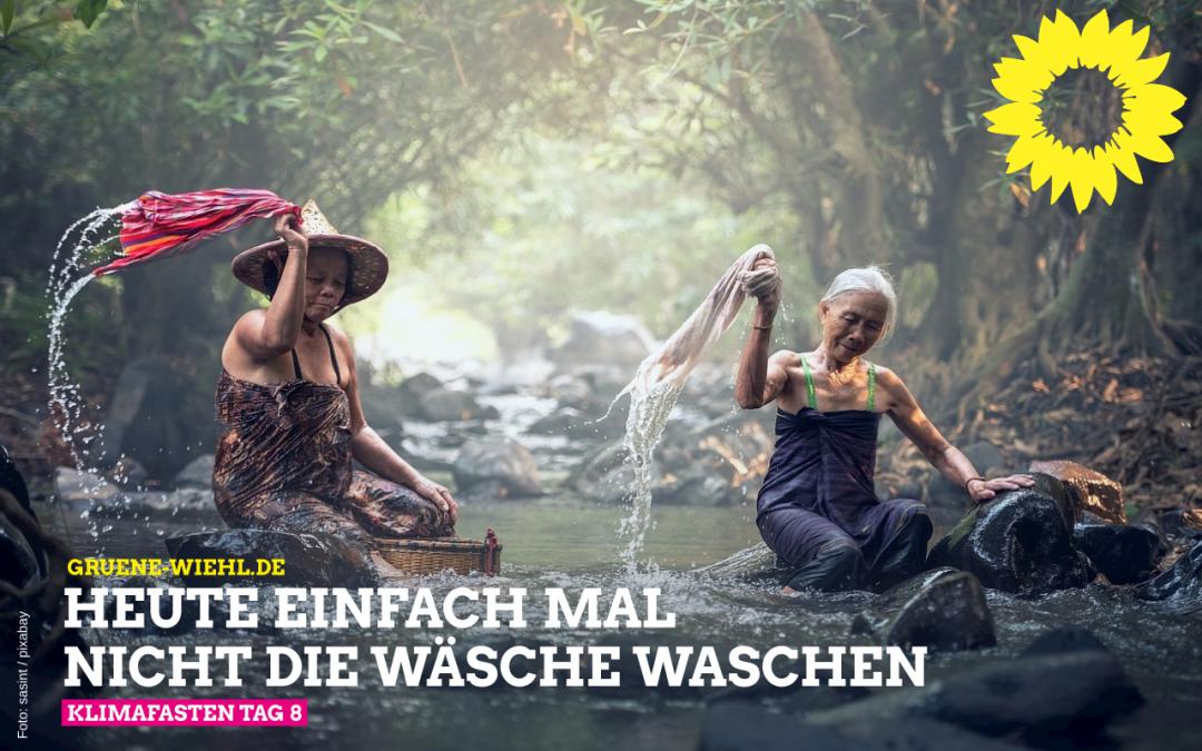 Klimafasten Tag 8 – Waschtag!?