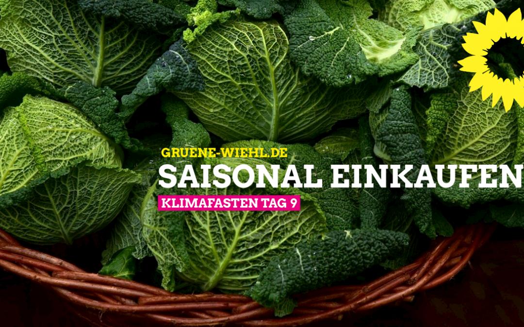 Klimafasten Tag 9 – Obst und Gemüse saisonal einkaufen